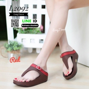 รองเท้าเพื่อสุขภาพฟิทฟลอป แบบหนีบ คาดเข็มขัด L2092-RED [สีแดง]