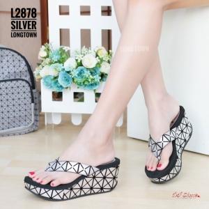 รองเท้าแตะแฟชั่นสีเงิน Style BAO BAO ISSEY MIYAKE (สีเงิน )