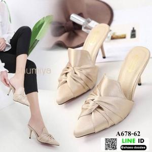 รองเท้าคัชชูส้นสูง สไตล์แบรนด์ ZARA A678-62-APRICOT [สีแอปริคอท]
