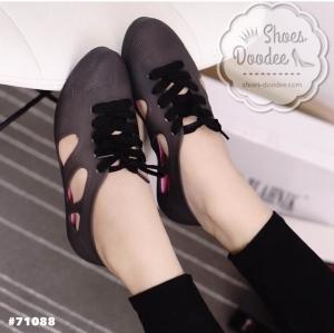 รองเท้าผ้าใบสีดำ งานALDO เนื้อซิลิโคนอย่างดี สีลูกกวาดพาสเทล งานชนช้อป กันแดด กันฝน ทนทานสุดๆ