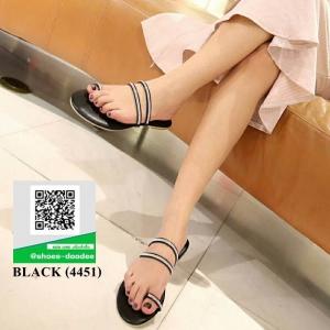 รองเท้าแตะเพชร น่ารักดูแพงมากค่ะ 4451-BLACK [สีดำ]