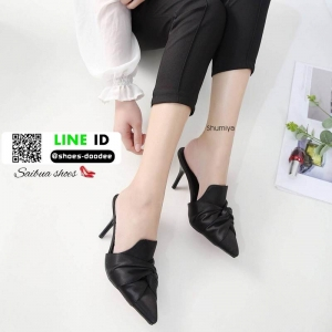 รองเท้าคัชชูส้นสูง สไตล์แบรนด์ ZARA A678-62-BLACK [สีดำ]