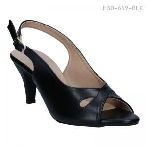 ลดล้างสต๊อก รองเท้าส้นเตี้ย P30-669-BLK [สีดำ]