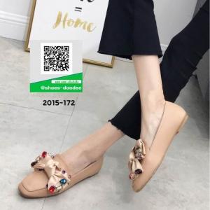 รองเท้าคัทชูส้นแบน Miu miu 2015-172-KHA [สีกากี]