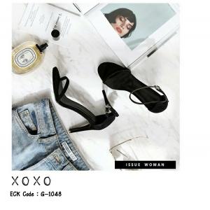 รองเท้าส้นเข็ม แบบสวม G-1048-BLK [สีดำ]