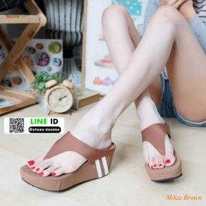 รองเท้าลำลองส้นเตารีดแบบคีบ M1822-BWN [สีน้ำตาล]