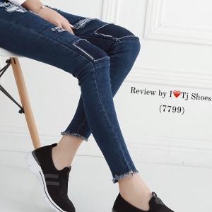 รองเท้าผ้าใบผู้หญิง เพื่อสุขภาพ น้ำหนักเบา STYLE SKECER (สีดำ )