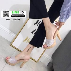 รองเท้าส้นสูง สไตล์แบรรนด์ TOP SHOP 3006-8-PINK [สีชมพู]