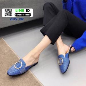 รองเท้าลำลองส้นเตี้ย แบบเปิดส้น 2015-192-BLU [สีน้ำเงิน]