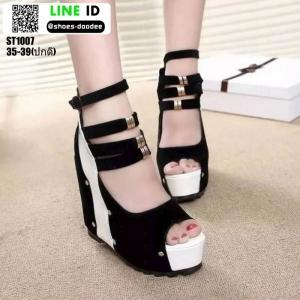 รองเท้าหุ้มส้นทรงเตารีด ST1007-BLK [สีดำ]