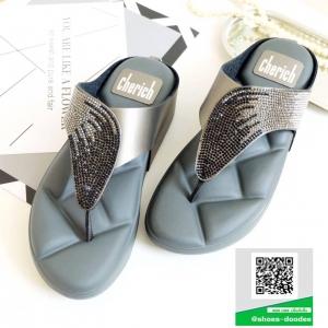 รองเท้าสุขภาพสีเทา Style fitflop ทรงสวย (สีเทา )