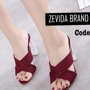 รองเท้าส้นสูงแฟชั่นสีแดง ผ้าสักหราด ส้นแก้ว (สีแดง )