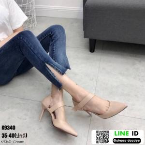 รองเท้าคัชชูหุ้มท้ายส้นเข็ม K9340-CRM [สีครีม]