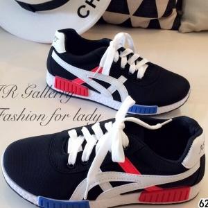รองเท้าผ้าใบ เพื่อสุขภาพ สไตล์โอนิสุกะ (สีดำ )