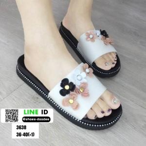รองเท้าแตะลำลองแบบสวม 3638-CRM [สีครีม]