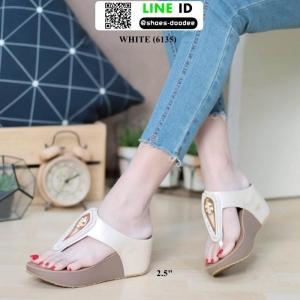 รองเท้าส้นเตารีด งานเพื่อสุขภาพ 6135-CREAM [สีครีม]