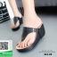 รองเท้าเตารีดเปิดส้นสีดำ หูคีบ (สีดำ ) thumbnail 1