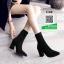 รองเท้าบูทส้นสูงสีดำ ทรงสูง ซิปหลัง (สีดำ ) thumbnail 1