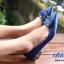 รองเท้าคัทชูหัวแหลมสีน้ำเงิน ส้นเตี้ย สไตล์แบรนด์ Manolo (สีน้ำเงิน ) thumbnail 2