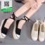 รองเท้าผ้าใบลูกไม้สีดำ มีสายสำหรับพันขา (สีดำ ) thumbnail 2