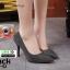 รองเท้าคัชชูทรงหัวแหลมงานผ้าวิ้งๆ 688-52-BLK [สีBLK] thumbnail 1