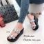รองเท้าแตะผู้หญิงสีเงิน แบบสวม สายคาดสองตอน (สีเงิน )