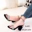รองเท้าส้นตันรัดข้อสีทอง สไตล์สุดชิค! ของ Issey Miyake (สีทอง ) thumbnail 1