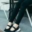 รองเท้าผ้าใบยางยืดสีดำ Style Sketcher การันตีว่านุ่มมาก (สีดำ )
