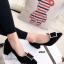 รองเท้าคัทชู ส้นสูง หัวแหลม ทรงสุภาพ (สีดำ ) thumbnail 1