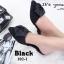 รองเท้าส้นเตี้ยเปิดส้นสีดำ หัวแหลม แต่งกุหลาบ (สีดำ ) thumbnail 5