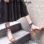 รองเท้าส้นตันพันข้อเท้าสีน้ำตาล ตอกหมุด สไตล์TOPSHOP (สีน้ำตาล )
