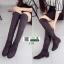 รองเท้าบูทยาวผ้าสักหราดนำเข้า 1235-BLACK [สีดำ] thumbnail 4