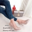 รองเท้าคัทชูส้นสูง หัวแหลม หนังนิ่ม ฉลุลาย (สีชมพู ) thumbnail 3