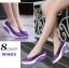 รองเท้าผ้าใบทรงคัชชู สไตล์สุขภาพ (สีม่วง ) thumbnail 2