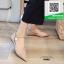 รองเท้าคัทชูหัวแหลมสีนู้ด พิมพ์ลายหนังงาช้าง (สีนู้ด )