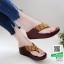 รองเท้าเพื่อสุขภาพฟิทฟลอบ YT123-น้ำตาล [สีน้ำตาล ] thumbnail 1