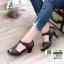 รองเท้าคัชชูหนังแกะ #ส้นสูงหนังแกะ แท้ 100% 8010-21-น้ำตาล [สีน้ำตาล ]