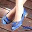 รองเท้าคัทชูหัวแหลมสีน้ำเงิน ส้นเตี้ย สไตล์แบรนด์ Manolo (สีน้ำเงิน ) thumbnail 4