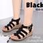 รองเท้าส้นเตารีด รัดส้น สายคาด3ตอน (สีดำ ) thumbnail 4