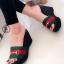 รองเท้าส้นเตารีดสไตล์กุชชี่ (สีดำ )