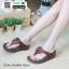 รองเท้าสุขภาพ ฟิทฟลอปหนีบ แต่งดอกไม้ F1080-BRN [สีน้ำตาล] thumbnail 1