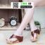 รองเท้าพียูเตารีด ผ้าซาติน PF2193-BRN [สีน้ำตาล]