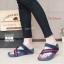 รองเท้าแตะเพื่อสุขภาพสีน้ำเงิน แบบคีบนิ้วโป้ง สไตล์ FITFLOP (สีน้ำเงิน ) thumbnail 1