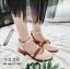 รองเท้าคัทชูรัดข้อสีขาว ทรงเว้าข้าง สไตล์วินเทจ (สีขาว ) thumbnail 1