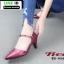 รองเท้าคัชชู หนังนิ่ม แบบเปิดข้าง B8-456-RED [สีแดง]