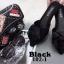 รองเท้าส้นเตี้ยเปิดส้นสีดำ หัวแหลม แต่งกุหลาบ (สีดำ ) thumbnail 4