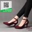 รองเท้าคัทชูส้นสูงสีแดง หัวแหลม เว้าด้านข้าง (สีแดง )