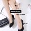 รองเท้าคัทชูส้นสูง หัวมน ผ้าสักหลาด (สีดำ ) thumbnail 1