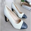 รองเท้าคัชชู งานส้นเหลี่ยม (สีขาว) thumbnail 1