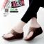 รองเท้าลำลองส้นเตารีดแบบคีบ 268-น้ำตาล [สีน้ำตาล ] thumbnail 1